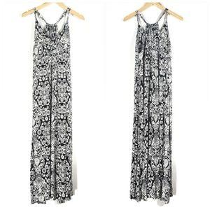 Black and White Paisley Maxi Dress Size Medium